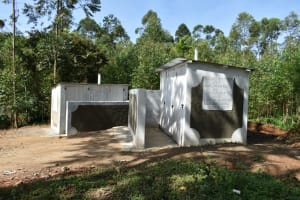 The Water Project: Kinu Friends Secondary School -  The New Latrines