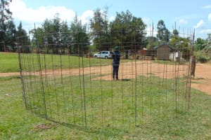 The Water Project: Ivakale Primary School & Community - Rain Tank 1 -  Tank Wire Reinforcement
