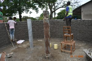 The Water Project: Isango Primary School -  Plastering Inner Walls