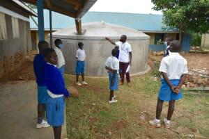 The Water Project: Ivakale Primary School & Community - Rain Tank 1 -  Tank Maintenance Trainng