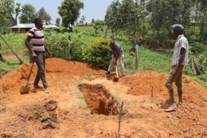 The Water Project: Friends Kisasi Secondary School -  Latrine Pit Excavation