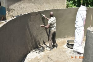 The Water Project: Isango Primary School -  Inner Plastering