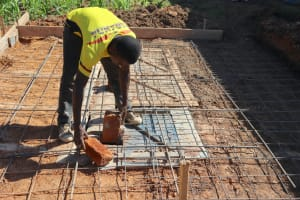 The Water Project: Friends Kisasi Secondary School -  Setting Foundation For Latrine