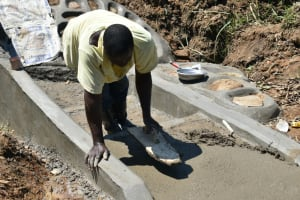 The Water Project: Shitavita Community, Patrick Burudi Spring -  Plastering The Staircase