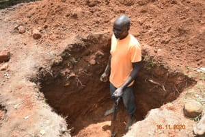 The Water Project: Isango Primary School -  Digging The Soak Pit