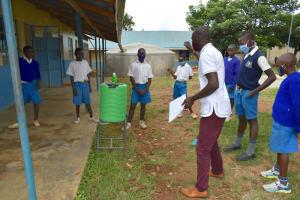 The Water Project: Ivakale Primary School & Community - Rain Tank 1 -  Handwashing Training