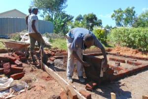 The Water Project: Friends Kisasi Secondary School -  Latrine Brick Work