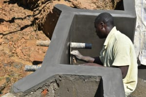 The Water Project: Shitavita Community, Patrick Burudi Spring -  Final Plaster