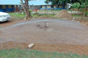 The Water Project: Ivakale Primary School & Community - Rain Tank 1 -  Preparing Tank Dome