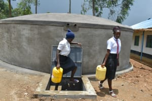 The Water Project: Kinu Friends Secondary School -  Clean Water Already In Use