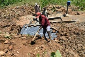The Water Project: Shitavita Community, Patrick Burudi Spring -  Backfilling