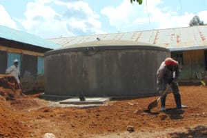 The Water Project: Ivakale Primary School & Community - Rain Tank 1 -  Landscaping Around The Tank