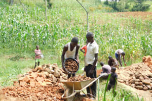 The Water Project: Maraba Community, Nambwaya Spring -  Delivering Materials To Work Site