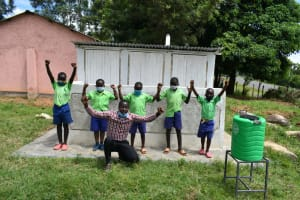The Water Project: Boyani Primary School -  Pupils And Teachers Share Thanks For Latrines