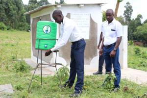 The Water Project: Friends School Shivanga Secondary -  Using The Handwashing Station
