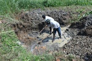 The Water Project: Shitavita Community, Patrick Burudi Spring -  Excavation Work