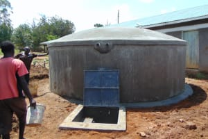 The Water Project: Ivakale Primary School & Community - Rain Tank 1 -  Curing A Complete Tank