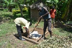 The Water Project: Shitavita Community, Patrick Burudi Spring -  Setting A Sanplat