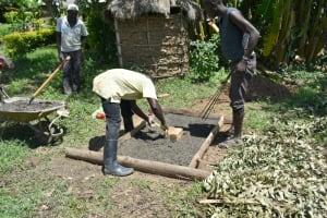 The Water Project: Shitavita Community, Patrick Burudi Spring -  Casting A Sanplat