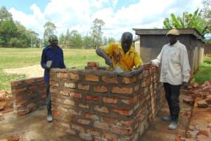 The Water Project: Ivakale Primary School & Community - Rain Tank 1 -  Vip Latrine Brickwork Ongoing