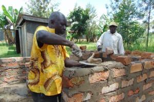 The Water Project: Ivakale Primary School & Community - Rain Tank 1 -  Latrine Brickwork