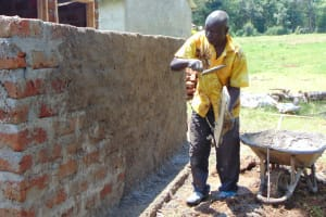 The Water Project: Ivakale Primary School & Community - Rain Tank 1 -  Plaster Works