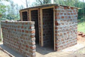 The Water Project: Ivakale Primary School & Community - Rain Tank 1 -  Vip Latrines Under Construction
