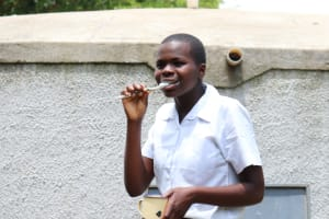 The Water Project: Friends School Shivanga Secondary -  Ivyn Demonstrates Good Toothbrushing