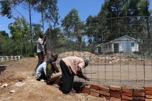 The Water Project: Kinu Friends Secondary School -  Setting The Frame To Position