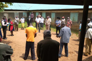 The Water Project: Ivakale Primary School & Community - Rain Tank 1 -  Prayers During Project Launch