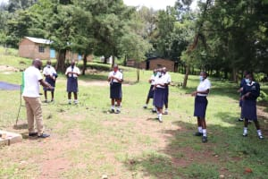 The Water Project: Friends School Shivanga Secondary -  The Handwashing Exercise
