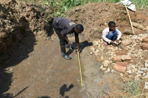 The Water Project: Shitavita Community, Patrick Burudi Spring -  Foundation Measurements