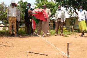 The Water Project: Ivakale Primary School & Community - Rain Tank 1 -  Measuring Tank Foundation