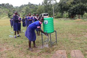 The Water Project: Kapkoi Primary School -  Practical Session At A Handwashing Point