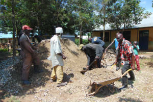 The Water Project: Ivakale Primary School & Community - Rain Tank 1 -  Concrete Work