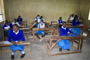The Water Project: Ivakale Primary School & Community - Rain Tank 1 -  Pupils Attend Training