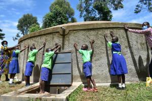 The Water Project: Boyani Primary School -  Dedication Of The Rain Tank