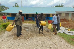 The Water Project: Ivakale Primary School & Community - Rain Tank 1 -  Concrete Mixing