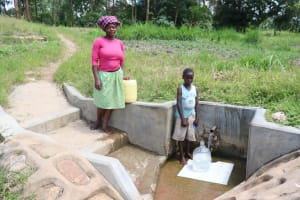 The Water Project: Luyeshe Community, Matolo Spring -  At Matolo Spring