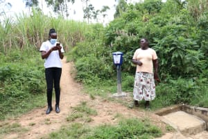 The Water Project: Luvambo Community, Timona Spring -  Field Officer Lillian Records Gladys Answers