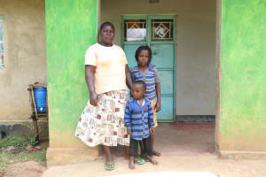 The Water Project: Luvambo Community, Timona Spring -  With Her Children At Home