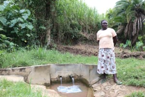 The Water Project: Luvambo Community, Timona Spring -  Gladys At The Spring