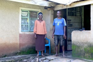 The Water Project: Rosterman Community, Kidiga Spring -  David And His Wife At Home