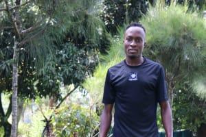 The Water Project: Rosterman Community, Lishenga Spring -  Emmanuel Lishenga Next To The Handwashing Station
