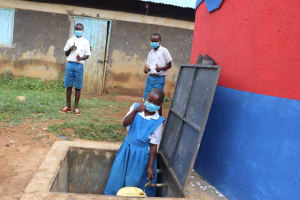 The Water Project: Ivakale Primary School & Community - Rain Tank 1 -  Thumbs Up For Clean Water