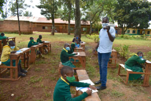 The Water Project: Gamalenga Primary School -  Demonstration Of Solar Disinfection Of Water