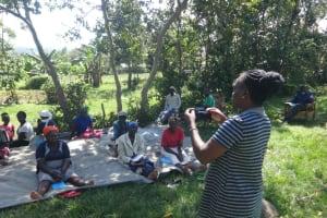 The Water Project: Mahira Community, Anunda Spring -  Mask Making Demonstration