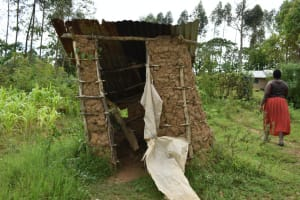 The Water Project: Mundoli Community, Pamela Atieno Spring -  Latrine