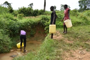 The Water Project: Mundoli Community, Pamela Atieno Spring -  Queueing At The Spring