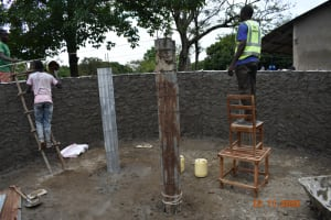 The Water Project: Isango Primary School -  Creating And Plastering Inner And Outer Walls